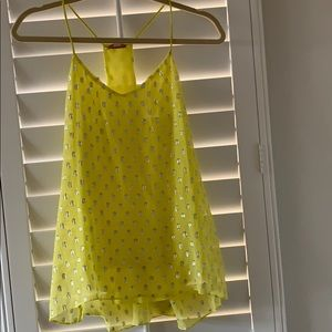 Ella Moss yellow tank top blouse size small